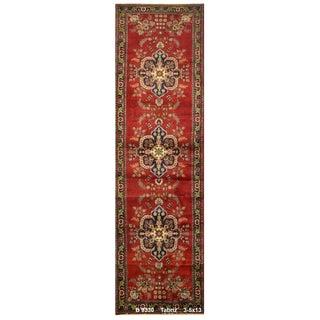 Vintage Persian Tabriz Rug - 3′5″ × 13′