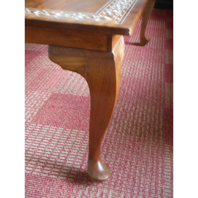 Pakistani Inlayed Rosewood Coffee Table - Image 7 of 9