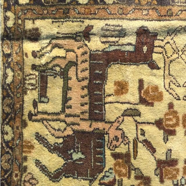 "Vintage Liliahan Persian Rug - 1'10"" X 2'9"" - Image 7 of 7"