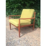 Image of Grete Jalk Chartreuse Lounge Chair