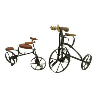 Vintage Handmade Bicycle Shop Displays, 1930's-1960's - A Pair