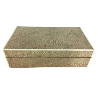 """Blanc"" Shagreen & Bone Inlaid Cigarette Box"