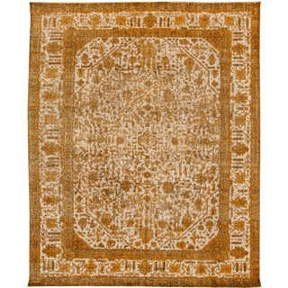 Apadana Yellow Overdyed Rug - 10' X 12'7""