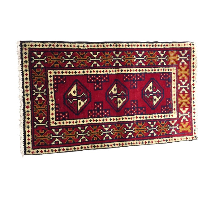 Turkaman Handmade Persian Rug - 1′8″ × 2′11″ - Image 1 of 11