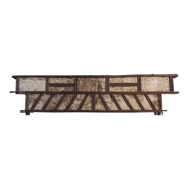 Primitive Adirondack Rustic Window Cornice - Image 1 of 6