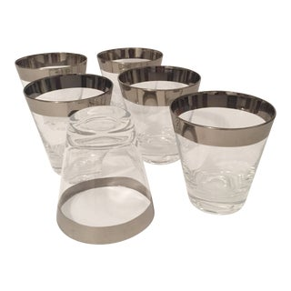Dorthy Thorpe Allegro Silver Banded Tumblers - Set of 6