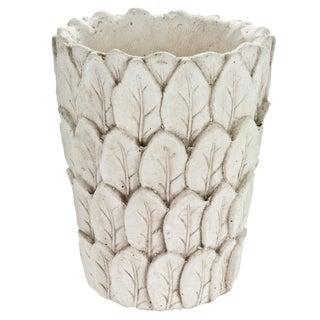 Cast Concrete Leaf Planter