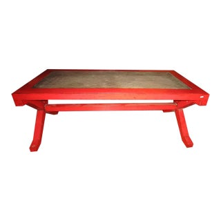 Chinese Elm Wood Coffee Table