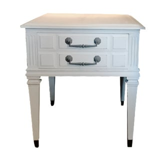 White Chalk-Painted Side Table
