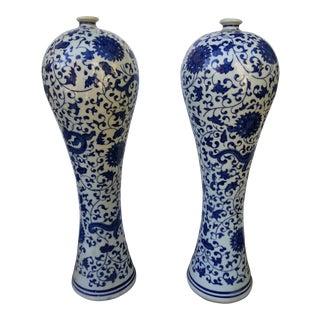 Pair Of Orientalist Spill Vases