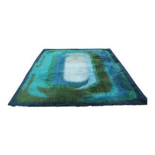 "Handmade Rya Wool Rug - 8' x 11'6"""