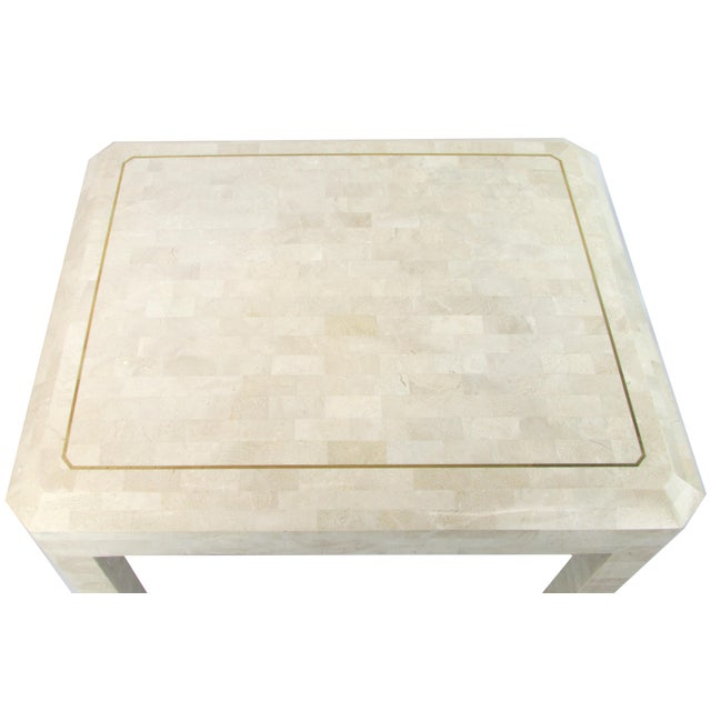 Tessellated Limestone Side Tables, Pair - Image 6 of 7