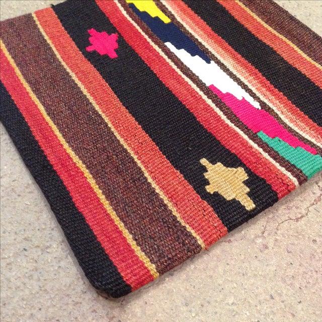 Image of Vintage Striped Turkish Kilim Pillow