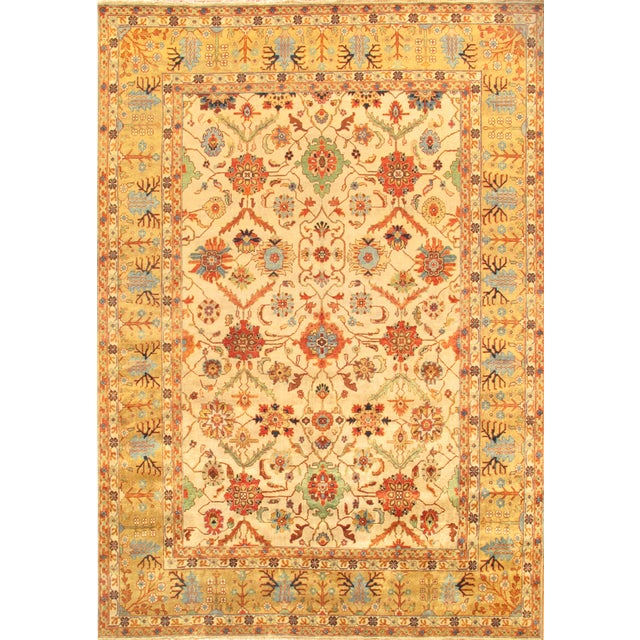 Mahal Hand-Knotted Wool Ivory Area Rug- 12' x 15' - Image 1 of 2