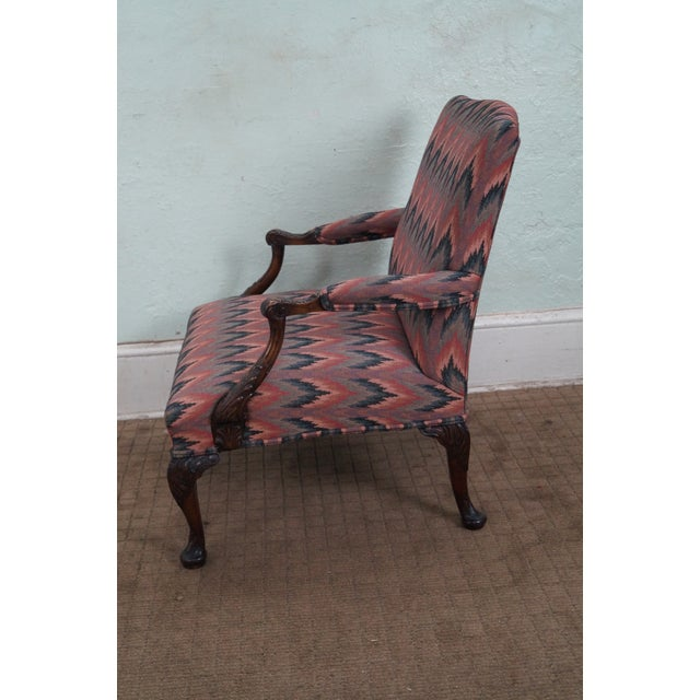 Antique Mahogany Frame Georgian Style Carved Chair - Image 4 of 10