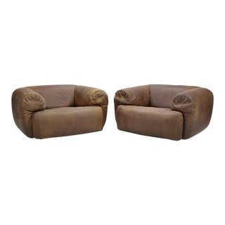 "Pair of Stendig ""Cumulus Group"" Leather Lounge Chairs"
