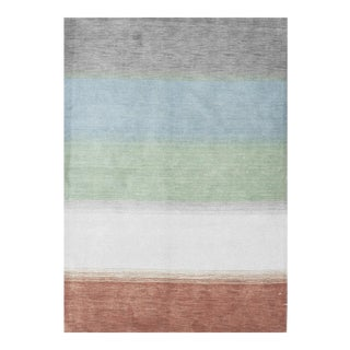 """Contemporary Striped Hand Woven Rug - 5' X 7'2"""""""