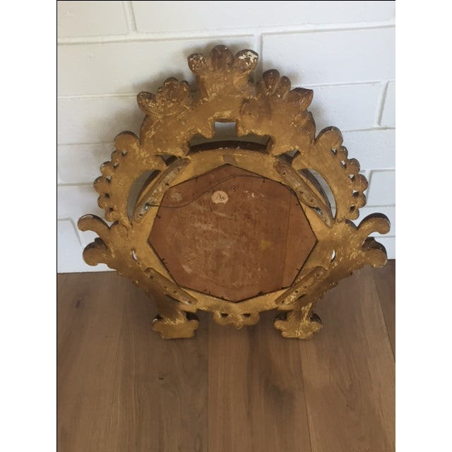 Antique Carved Gold Mirror - Image 8 of 9