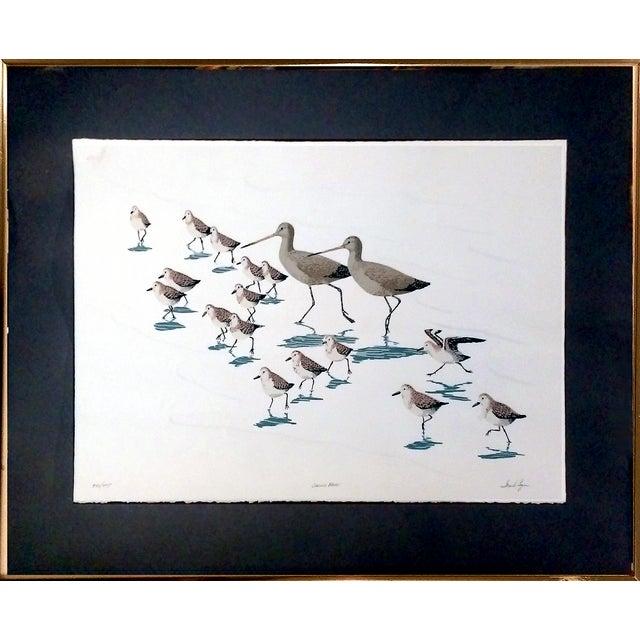 "Frank Logan ""Chasing Waves"" Shore Birds Serigraph - Image 1 of 9"