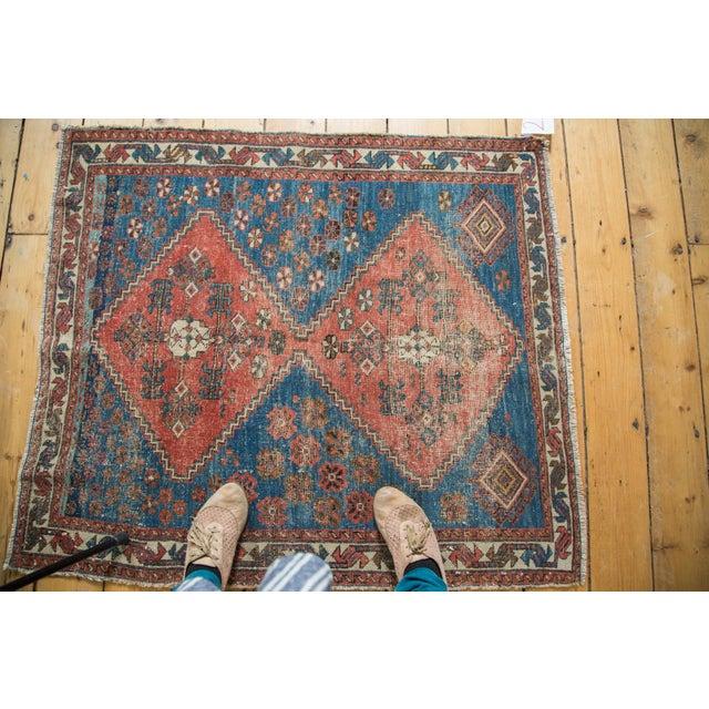 "Distressed Antique Persian Square Rug - 3'3""x3'10"" - Image 5 of 7"