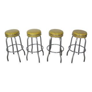 Vintage 1960s Bar Stools - Set of 4