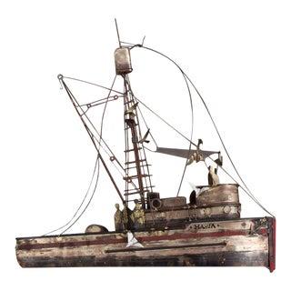 """Curtis Jere """"Maria"""" Shrimp Boat Brutalist Sculpture"""