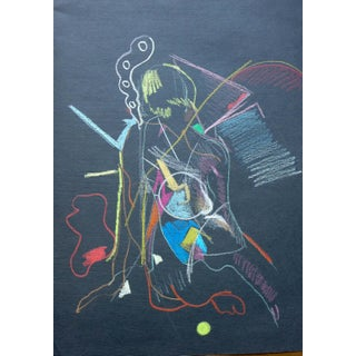Abstract Pastel on Black Paper