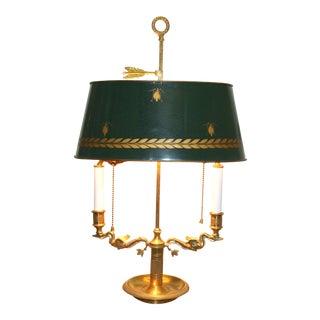 Vintage French Bouillotte Lamp
