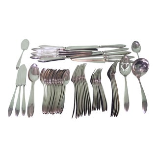 Patrician Pattern Silverplate Flatware by Community Plate - Set of 63