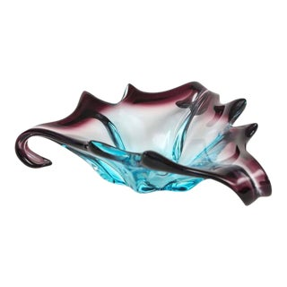 1960s Italian Free Form Multi Color Murano Dish