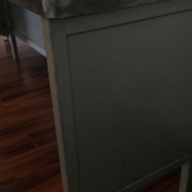 Vintage Steel Industrial Console Table - Image 7 of 7