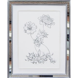 Floral Print with Handmade Mirrored Frame