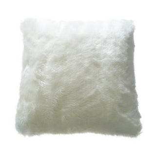 Faux Arctic Fox Pillow in Ivory