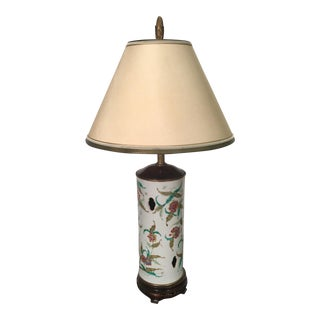 Antique Chinese Pottery Hat Stand Table Lamp