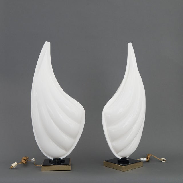 Pair of Rougier Resin Shell Lamps - Image 2 of 5
