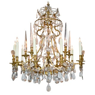 18th C. French Rock Crystal Chandelier