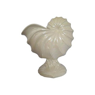 1980s Nautilus Shell Flower Pot or Centerpiece
