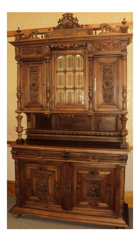 Antique Walnut Court Cabinet Cupboard