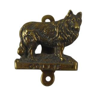 Brass Collie Dog Door Knocker