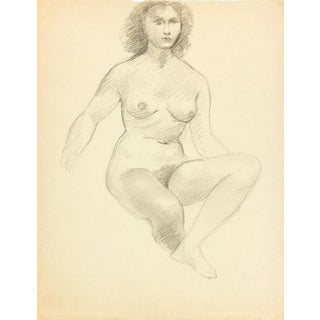 Female Figure Drawing Free Mat&Shipping, C. 1940