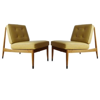 Pair of Swedish Slipper Chairs