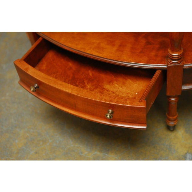 Image of Frederick Cooper Two-Tier Side Table with Lamp