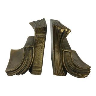 Brass Book Bookends - Pair