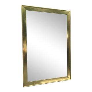Italian Mid-Century Brass Frame Mirror