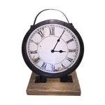 Image of Vintage Industrial Barnwood Base Clock