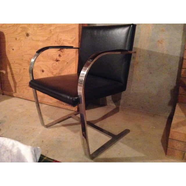 Knoll Brno Chrome & Black Chair - Image 2 of 3