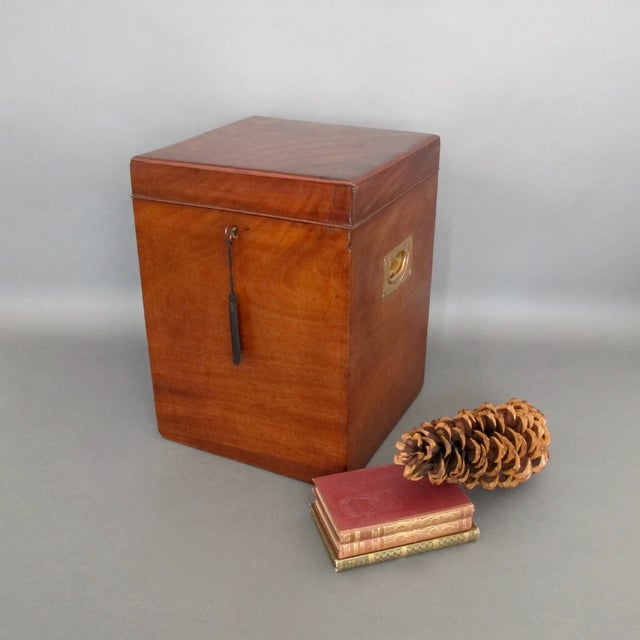 Antique English Mahogany Wine Box - Image 11 of 11