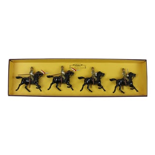 Britains' the Empress of India's 21st Lancers Cavalry Officer Figures - Set of 4