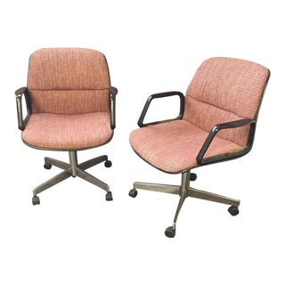 Panton Era Vintage Tweed Office Chairs- A Pair