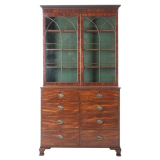 English 19th Century Mahogany Bookcase